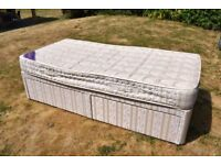 Single Divan Bed with two drawer storage