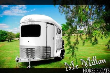 NEW 2015 McMillan 2 Horse float angled to right Carindale Brisbane South East Preview