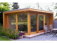 Gartenhaus Modern blockcube gartenhaus werksverkauf ständerbau senkrechtmarkise in