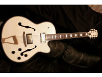 ELECTRIC GUITAR SEMI ACOUSTIC WHITE Gretsch style