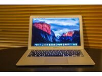 Macbook Air mid 2013 Apple laptop Intel Core i5 processor on latest EL Capitain 10.11 software
