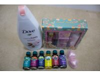 Various bath fizzers, oils, lotion etc.