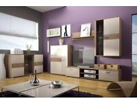 MAXIM LIVING ROOM SET!! TV UNIT, TV FURNITURE,DISPLAY CABINET, SHELF, LED LIGHTS