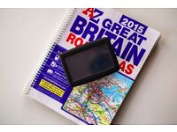Tom Tom GPS, Sat Nav with A-Z Great Britain road atlas, road trip accessory, UK/Ireland maps