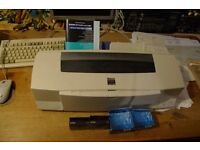 A3 inkjet colour printer: Epson Stylus Photo 1200 with 4 new ink cartridges