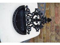 bird feeder, cast iron