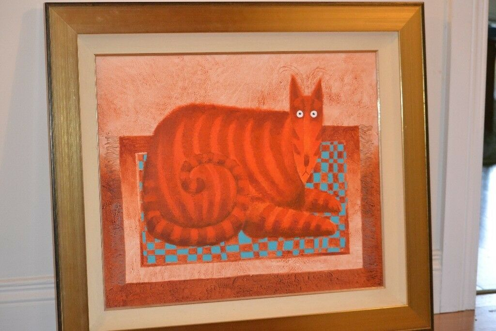 Original Painting by Toni Goffe - 'Ginger on the Mat'