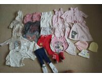 Large bundle of baby girls autumn / winter clothes