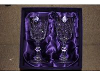Pair of Edinburgh Crystal White Wine Glasses