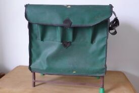 Vintage Fishing / Fisherman's Basket / Tackle / Storage Box / Seat, with strong carrying strap.