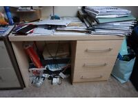 House Clearance - Bed, filing cabinets, desk table, cupboards, coffee tables,