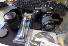 Pentax K110D digital camera package