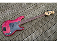 Fender Precision Bass - Fretless in Candy Apple Red