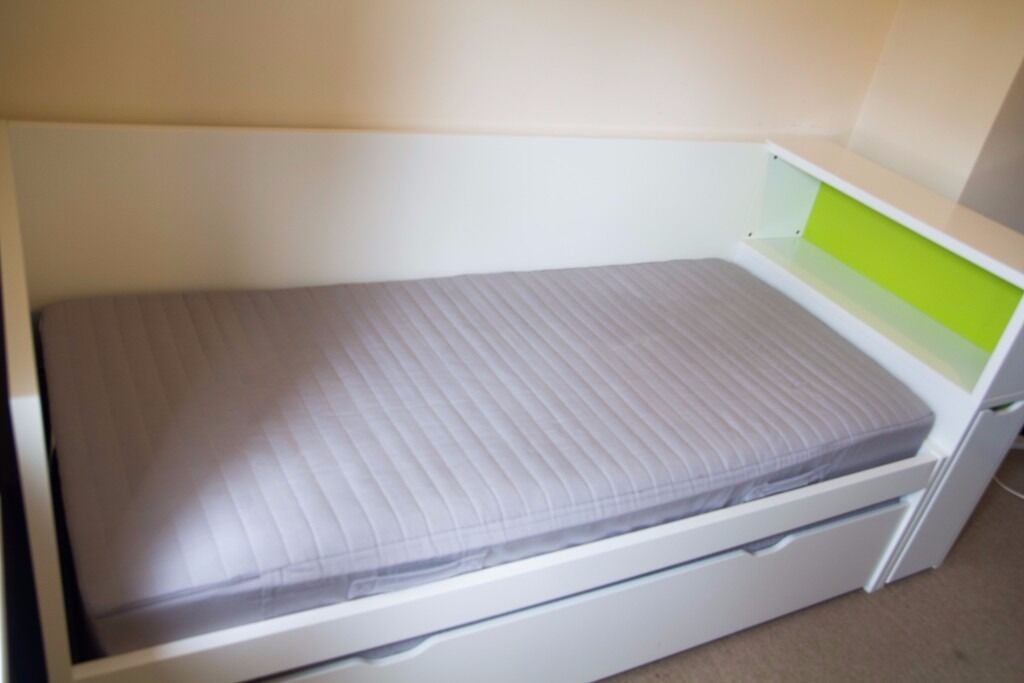 Single Bed With Under Bed Headboard With Storage