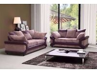 / / BRAND NEW / / Dino jumbo cord sofas / 3+2 seater set or corner sofa in grey/black or beige/brown
