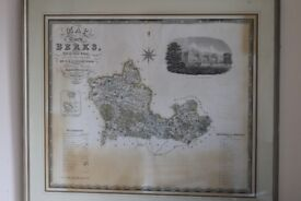 Early 19th century Map of Berkshire (c.1829)