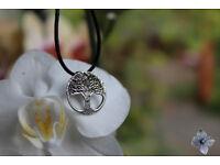 Genuine sterling silver tree pendant