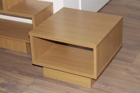 Cubes End Table/Coffee Table - Oak Effect