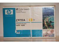 HP C9722A (641A) Original Yellow Toner Cartridge - Brand new in original sealed box