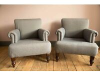 Matching pair of armchairs