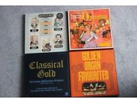 "4 boxed sets vinyl 12"" Readers Digest records Operettas, classical, organ music"