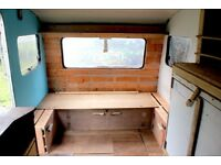 Vintage Sprite Musketeer Turquoise Caravan 2 Berth with Stove and Shabby Chic Wood Interior