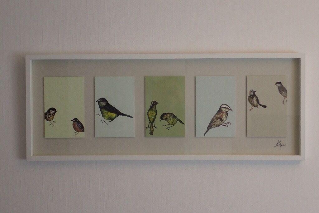 IKEA OLUNDA Picture with birds, framed | in Stratford, London | Gumtree