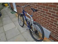 Team Saracen Nzyme Mountain bike front suspension 26 wheels blue, not orange cube gt giant carrera