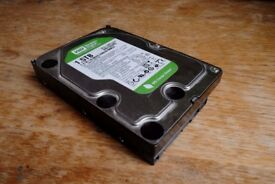 Western Digital Green 1.5TB SATA hard disk 64MB Cache - Fully Working
