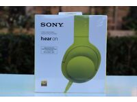 Sony h.ear On MDR100AAPL Headphones - Lime Yellow (Brand New Unopened)