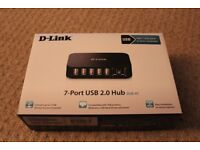D-Link DUB-H7 Port USB 2.0 External Hub UK Model *6 months old