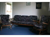 Lovely ERCOL Studio Daybed/Couch And Chairs Rare DELIVERED
