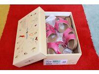 New Girls Sandals Startrite Hot Pink Patent 'Honeysuckle' UK 10.5F EU28.5F RRP £38