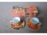 Porcelain Espresso Cup & Saucer Set