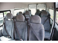 Ford Transit Minibus Seats X 12 with Brackets & Seatbelts . Great Condition.