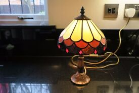 Small Lovely Tiffany Lamp - Height 30 inches, Width 7 inches
