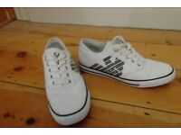 EA7 (Armani) white used trainers. Good condition !