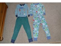 2 PAIRS OF MINI BODEN BOYS PYJAMAS * QUALITY BRAND * AGE 5