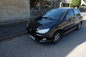 Peugeot 206 Black, NEW timing belt - Needs some repairs