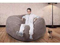 Mega Mammoth Sofa Bean Bag - Mink