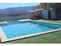 Holiday accommodation upto three people in the Tabernas Desert, one bedroom chalet with shared pool