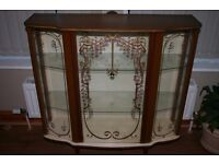 Retro Glass Fronted Display Cabinet - 1977