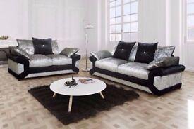 Modern Design Crush Velvet Dino sofa 3-2 or corner For Sale