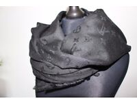 Luxury Louis Vuitton black color Scarf /Shawl - brand new