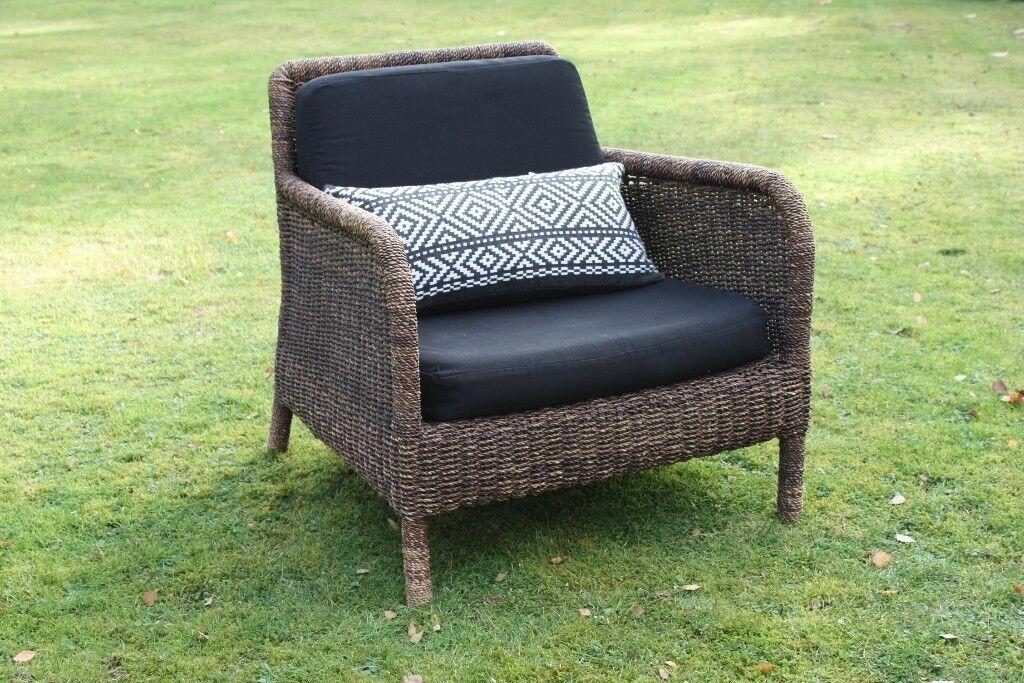HABITAT Armchair with Black cushions