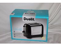 Boxed Dualit 2 slot Lite toaster in cream gloss finish. As new.