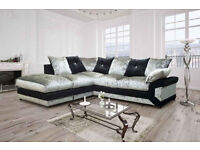 *BRAND NEW* Dino crushed velvet sofas / 3+2 seater set or corner sofa in your choice of colour***