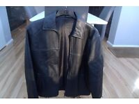 black leather jacket medium 38-40""
