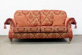 SUPERB PARKER KNOLL DERWENT WESTBURY SOFA IN RED GOLD FABRIC - UK DELIVERY