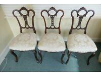 Three Edwardian Dining Chairs